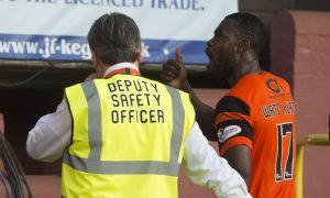 The last Dundee United fans will see of Wato Kuate.