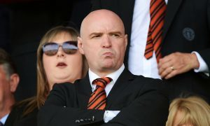 Deep in thought - Dundee United chairman Stephen Thompson.