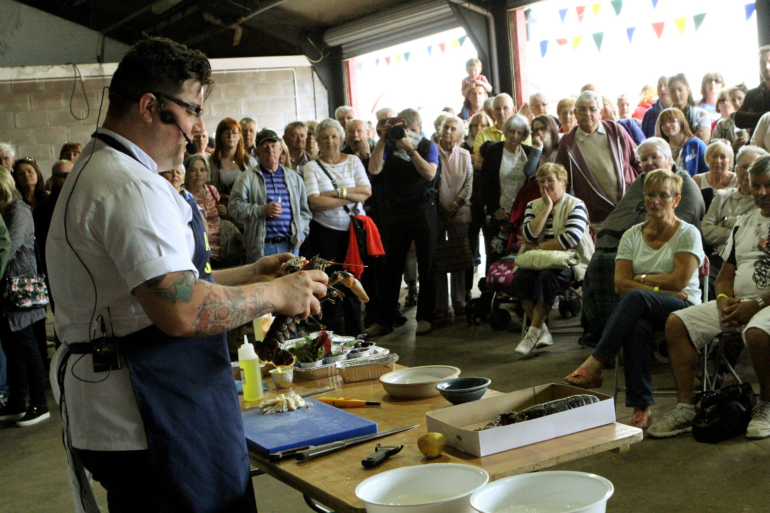 Masterchef The Professionals winner Jamie Scott was among those taking part.
