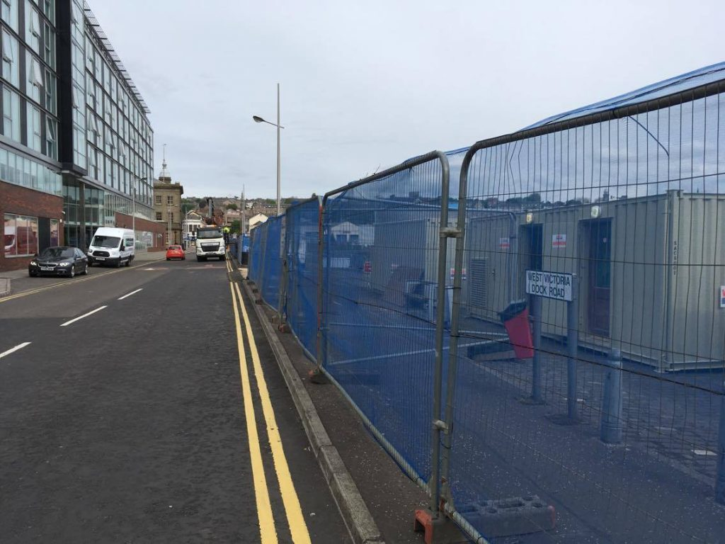Work is underway on the watersports centre at Dundee's City Quay.