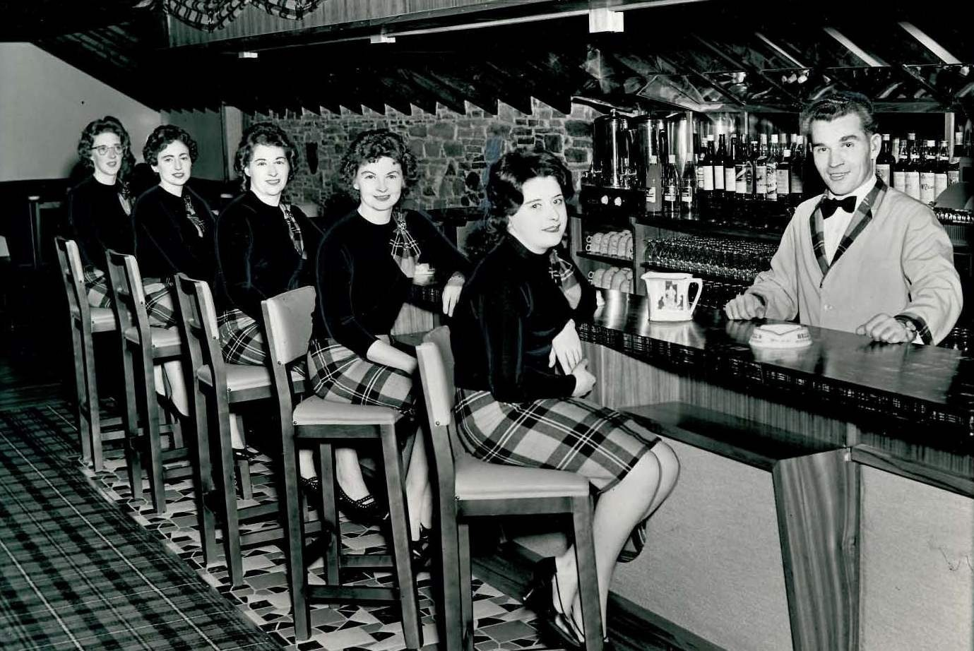 Waiting staff in the Royal's lounge during the hotel's previous heyday, dated October 1962.