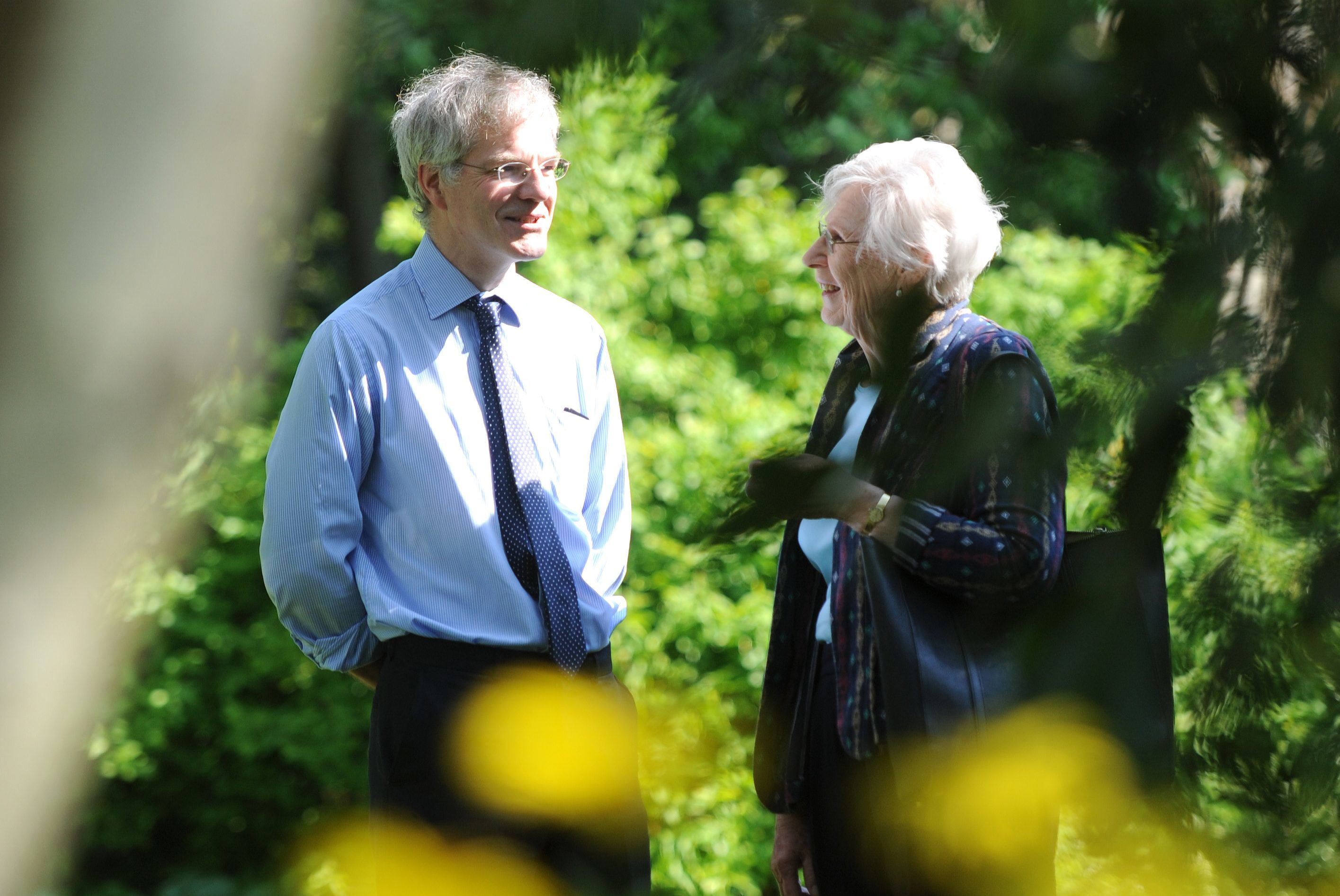 Friends of the garden Mark McGilchrist and Tricia Paton search for inspiration
