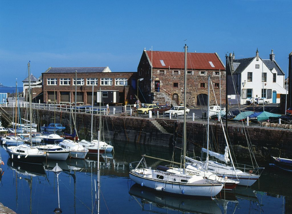 The picturesque harbour of North Berwick.