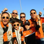 Fans descend on Tannadice for first-leg of play-off final