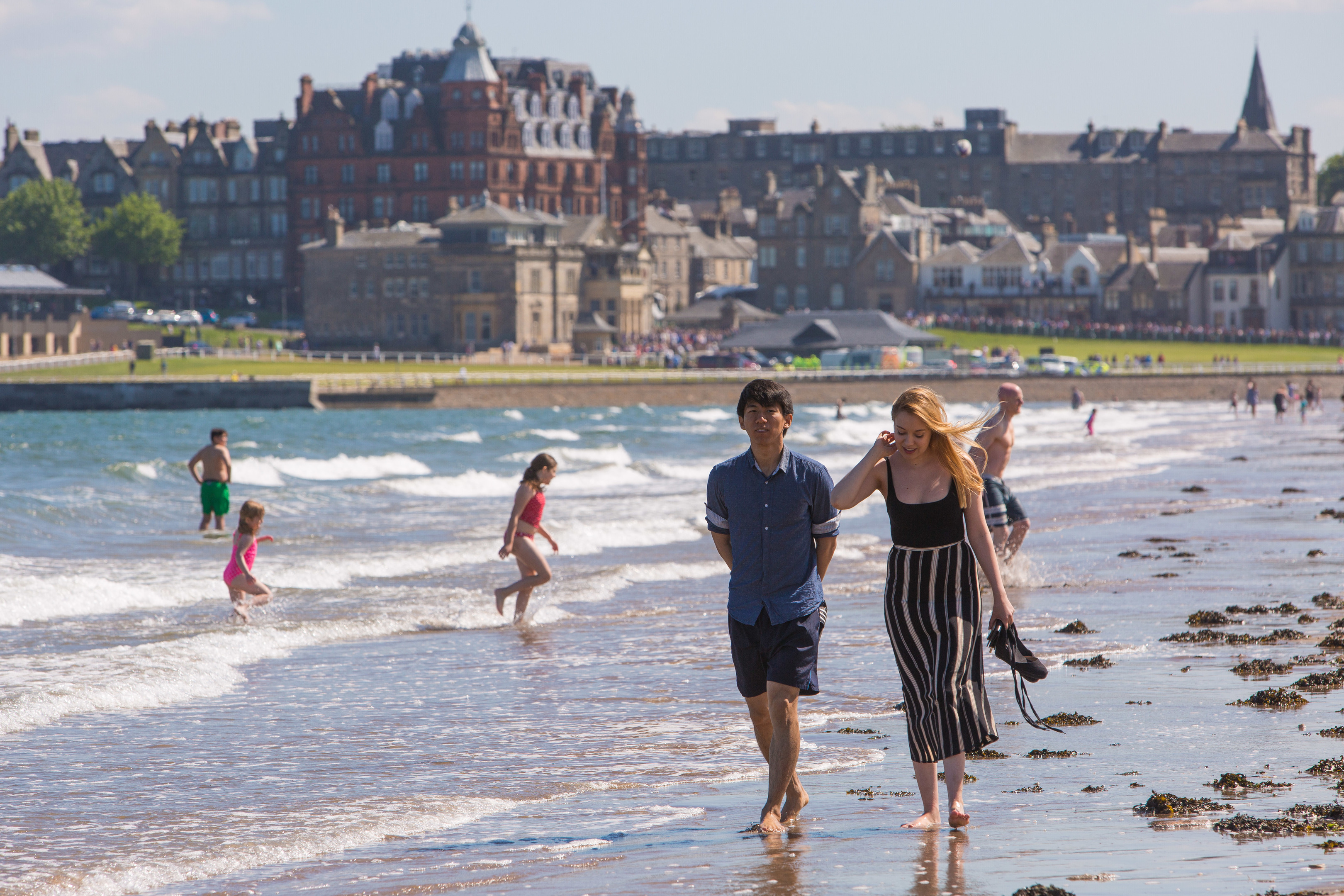 West Sands beach in St Andrews earlier this year.