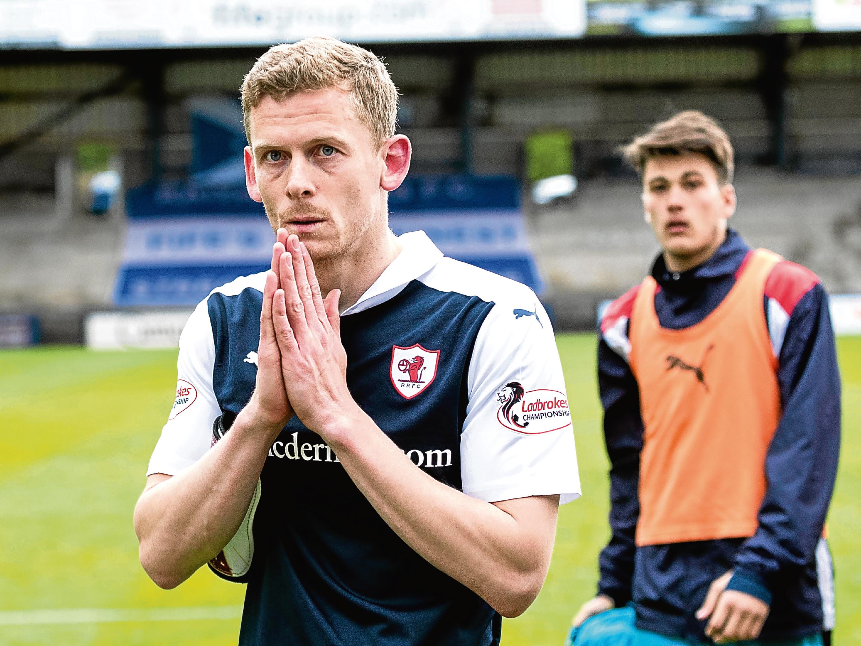 Raith Rovers' Scott Robertson at full-time.