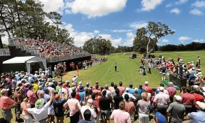 Ian Poulter hits from the first tee during the final round of the Players at Sawgrass.