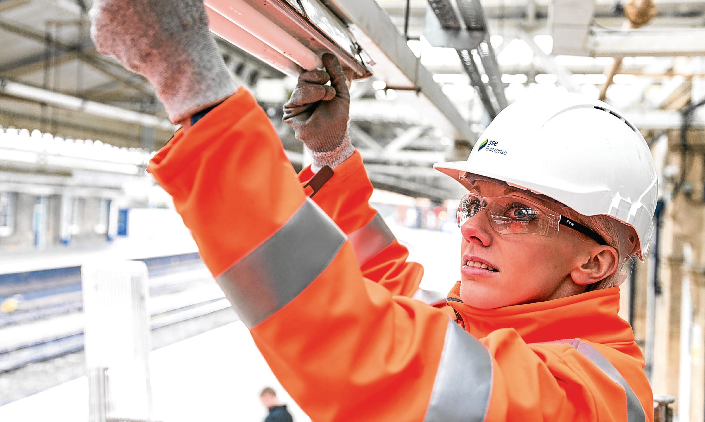 An SSE Enterprise technician