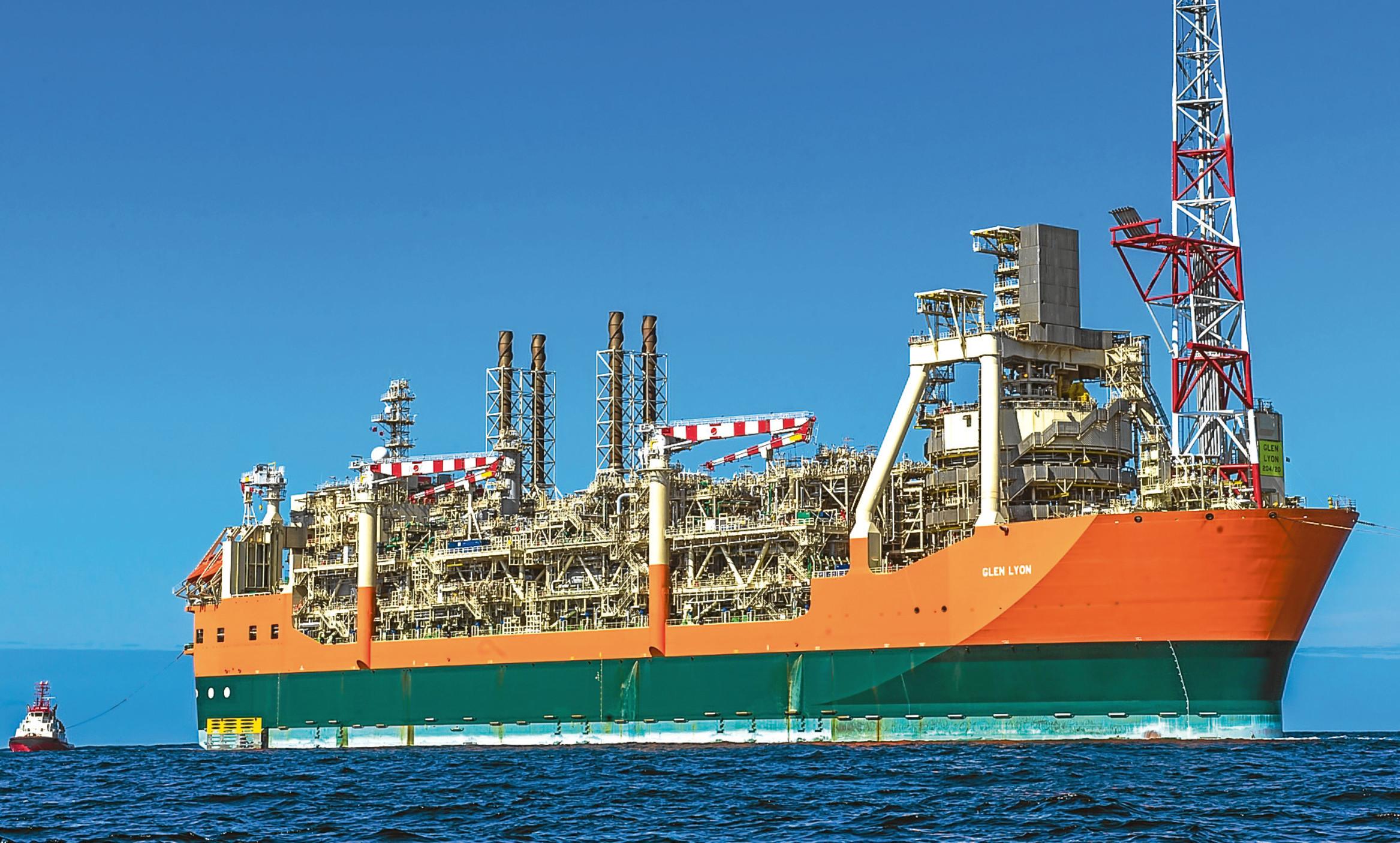 The Glen Lyon FPSO servicing the Quad 204 oil field in the North Sea