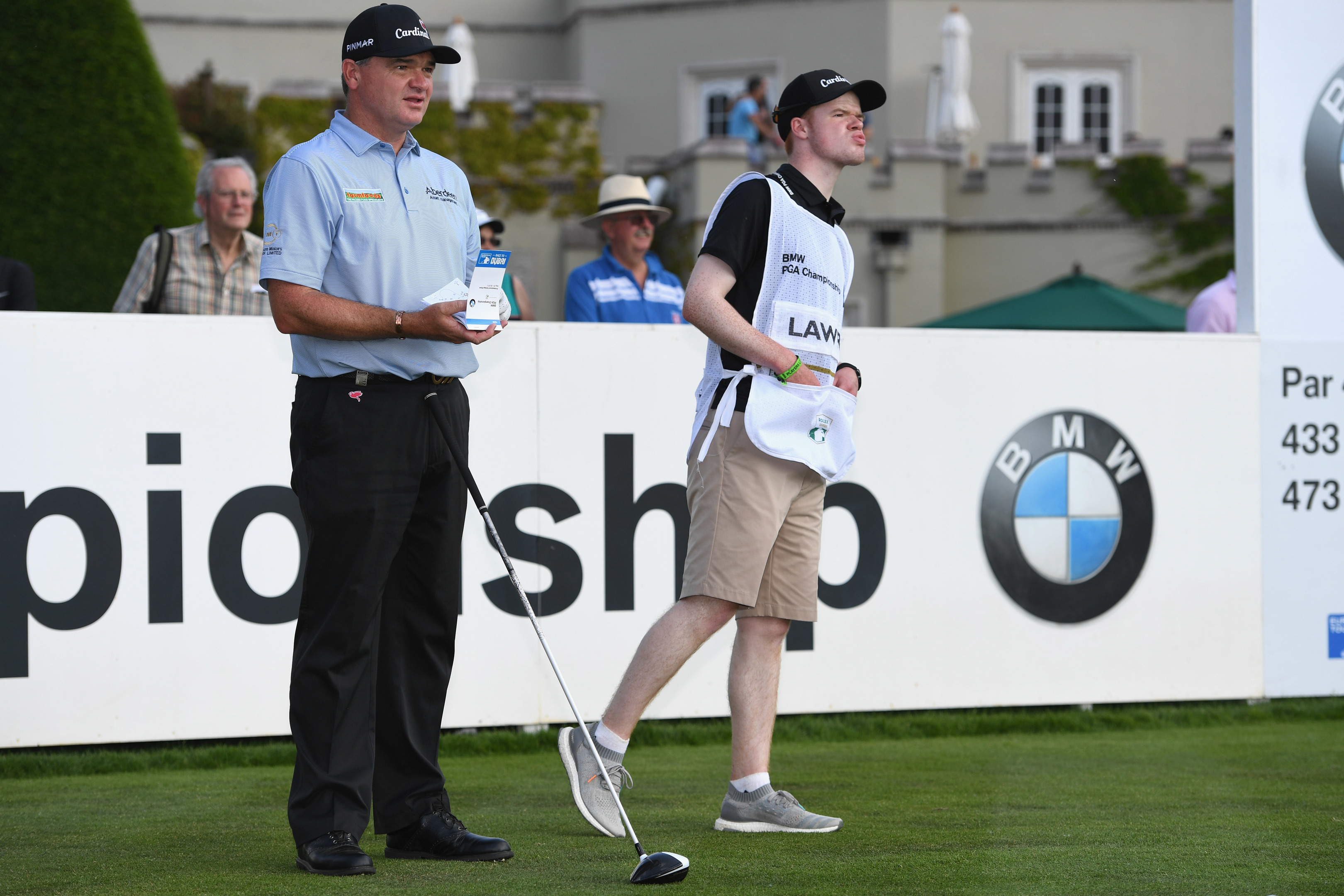 Paul Lawrie and son Michael have teamed up for the summer;s big golf tournaments.