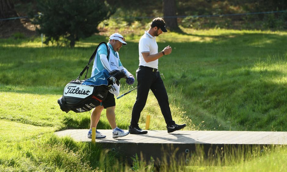 Scott Jamieson was on his own in the lead at Wentworth when disaster struck.