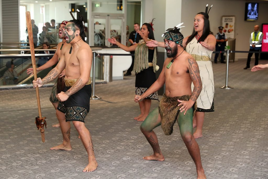 The British and Irish Lions were welcomed to Auckland with a haka this morning.