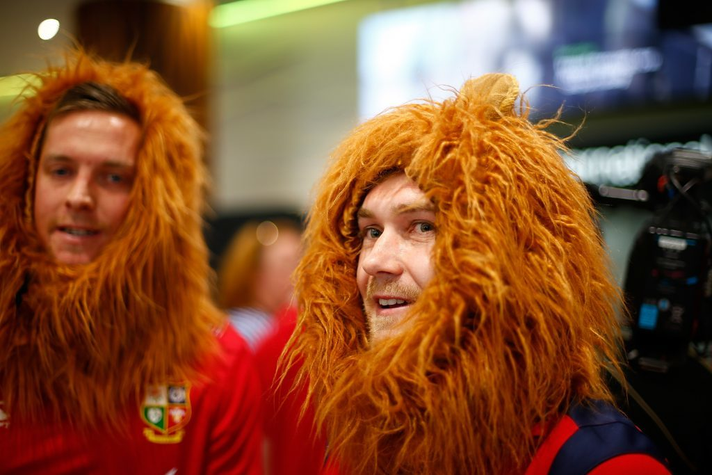 British and Irish Lion fans welcome the squad to New Zealand.
