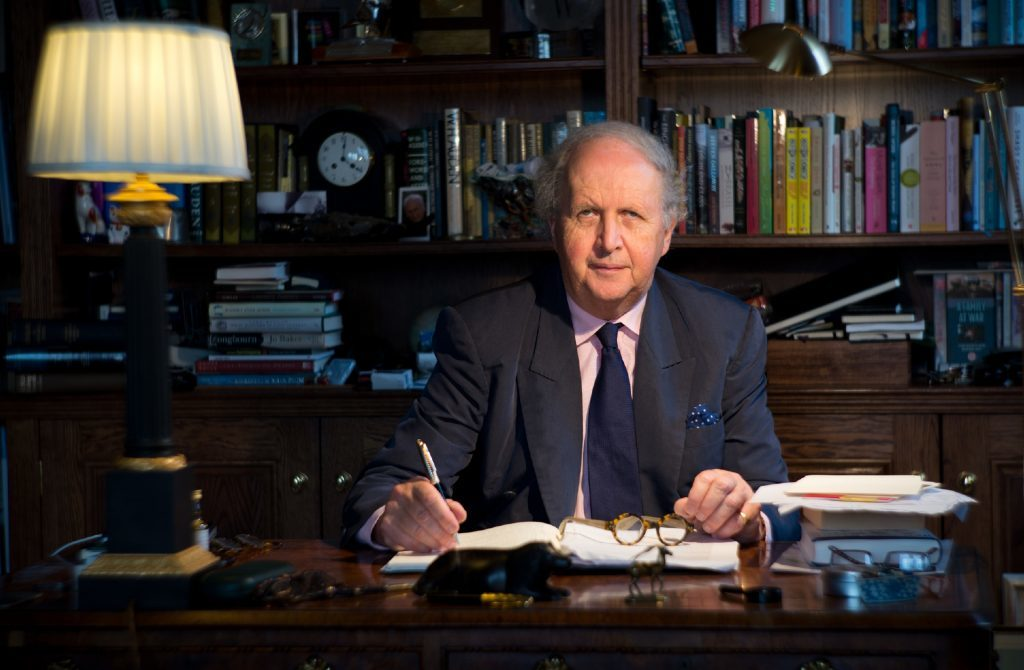 Alexander McCall Smith at home in Edinburgh.