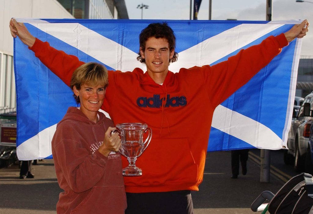 17-year-old Andy Murray with his mum, Judy.