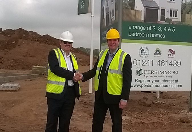 Bruce Forbes, director of Angus Housing Association and Cairn chief executive, Jason MacGilp
