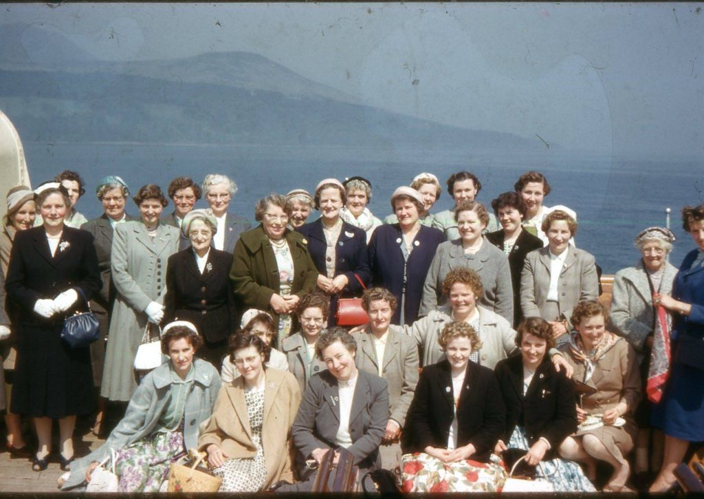 AN SWRI outing to Arran in the 1950s.