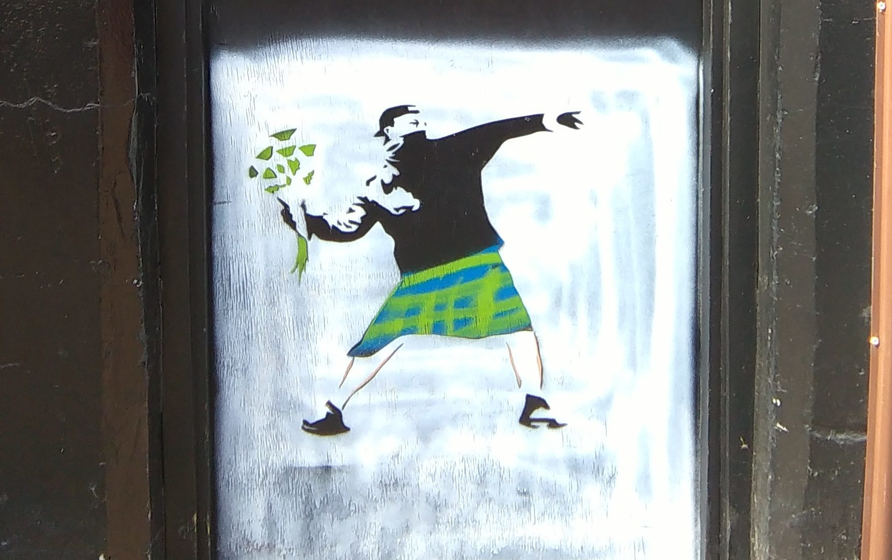The supposed Banksy in Kirkcaldy.