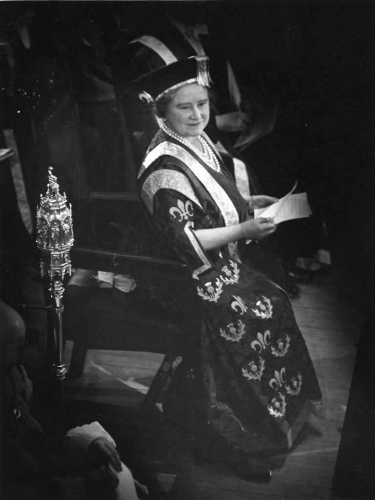 The Queen Mother became Dundee University first Chancellor
