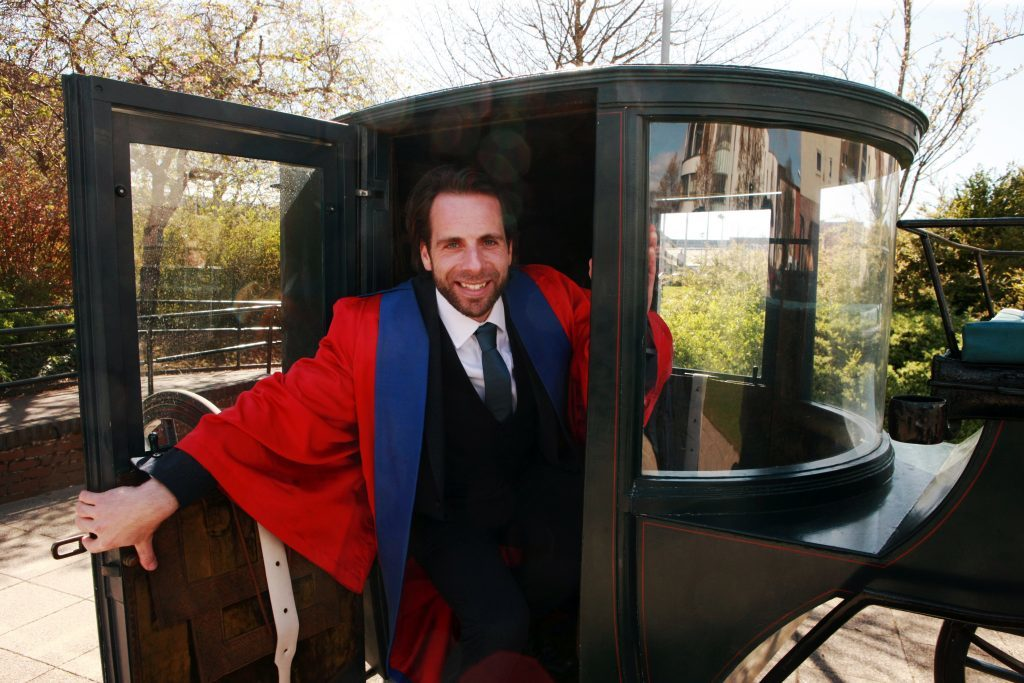 Mark Beaumont installed as Rector at the University of Dundee in 2016