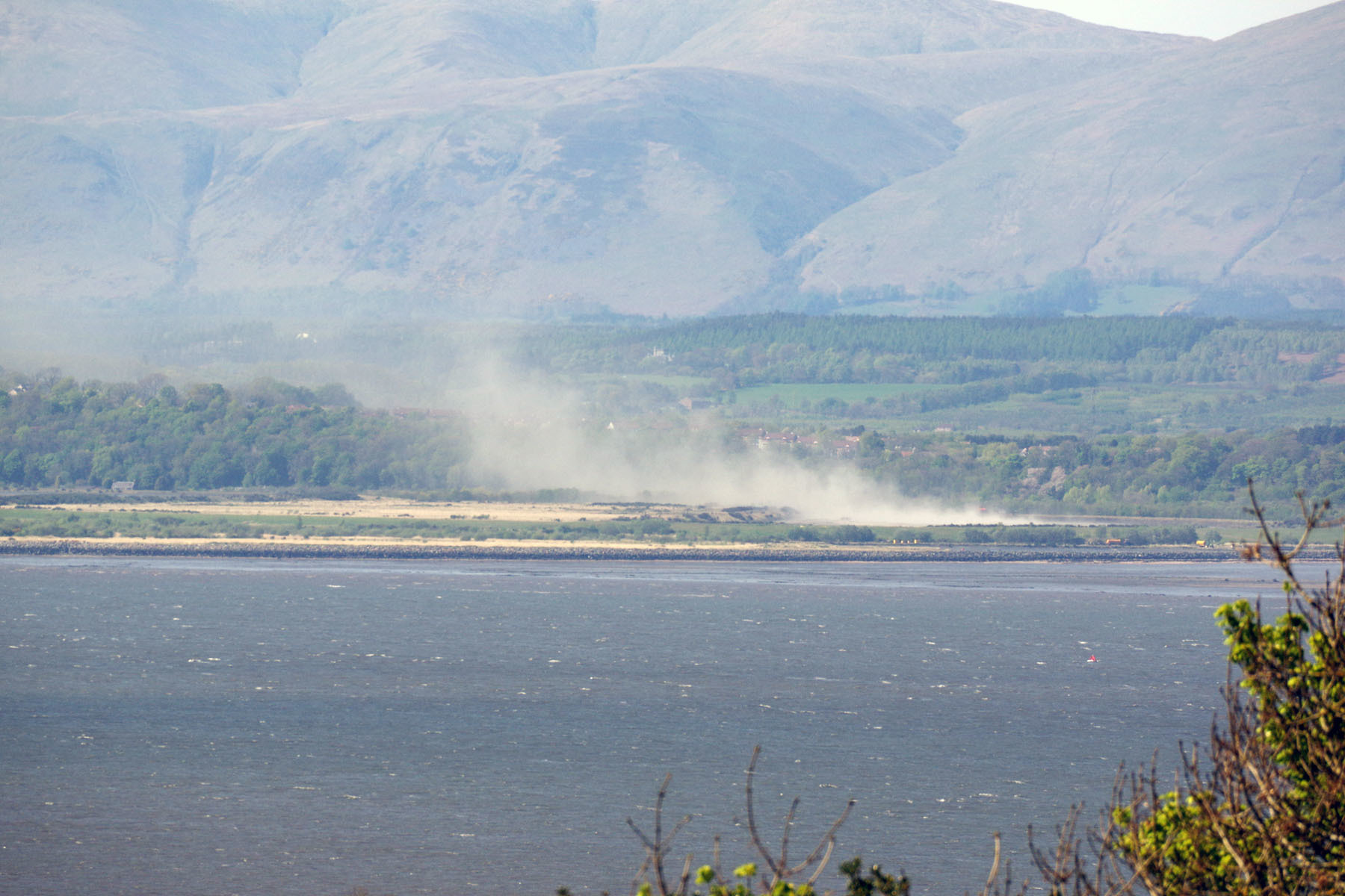 Dust seen from across the Forth