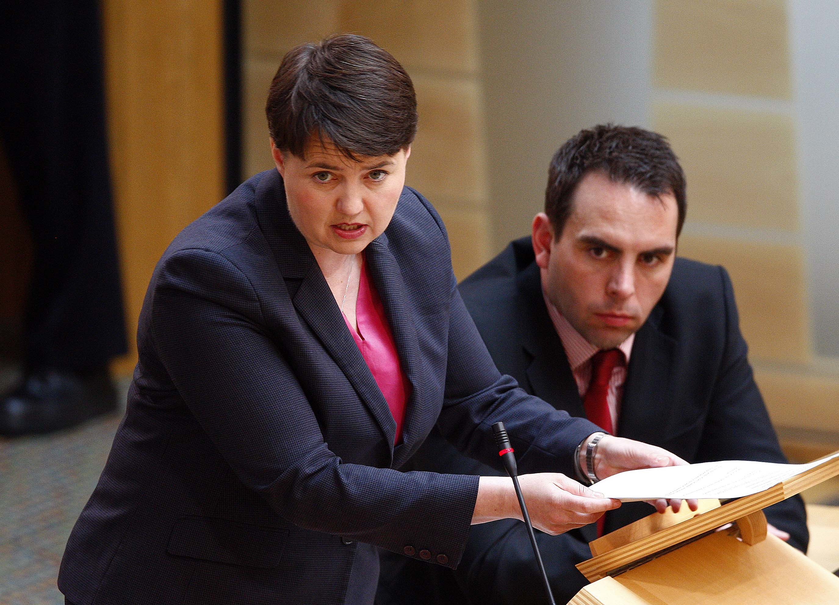 Leader of the Scottish Conservative Party Ruth Davidson MSP speaking following an urgent Statement by the First Minister on the Attack on Manchester. 23 May 2017. Pic - Andrew Cowan/Scottish Parliament