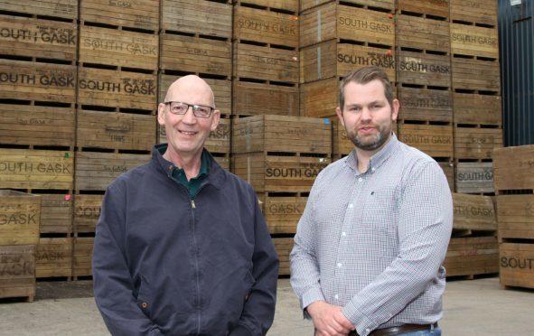 David Murdie of Grampian Growers, left, with Sandy McGowan.