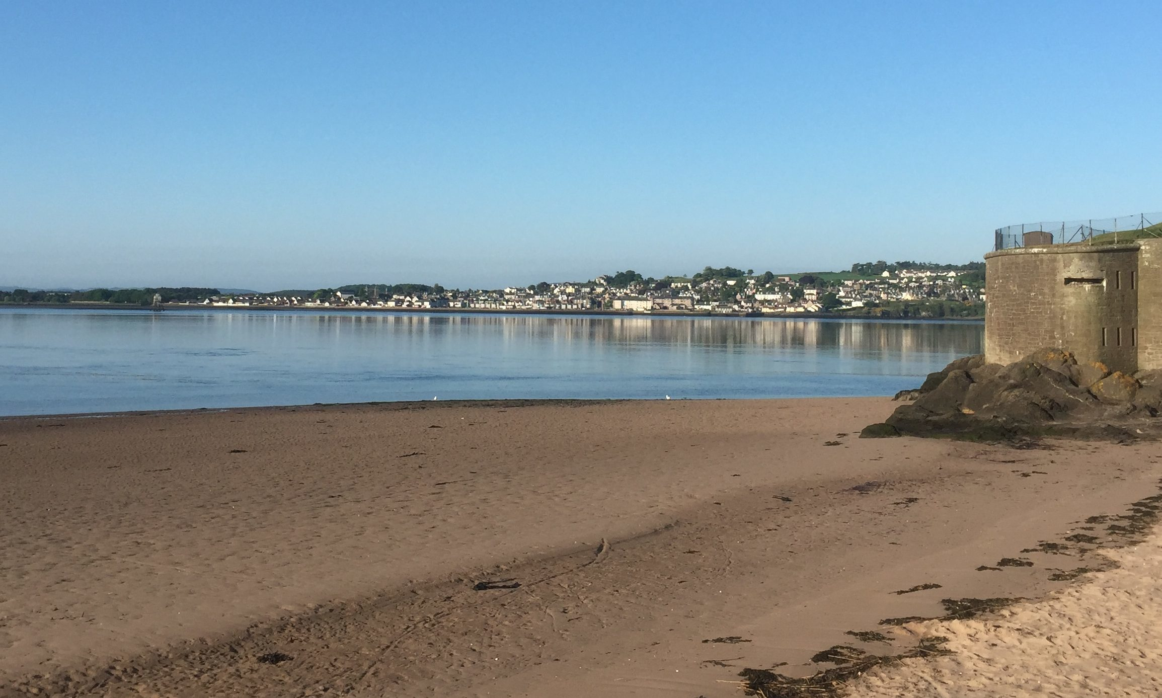 It was another sunny day in Broughty Ferry on Friday.
