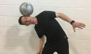 John Farnworth showing his skills at Warddykes Primary School in Arbroath.