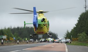 VIDEO: Air ambulance on scene after serious crash blocks busy A90 north of Dundee