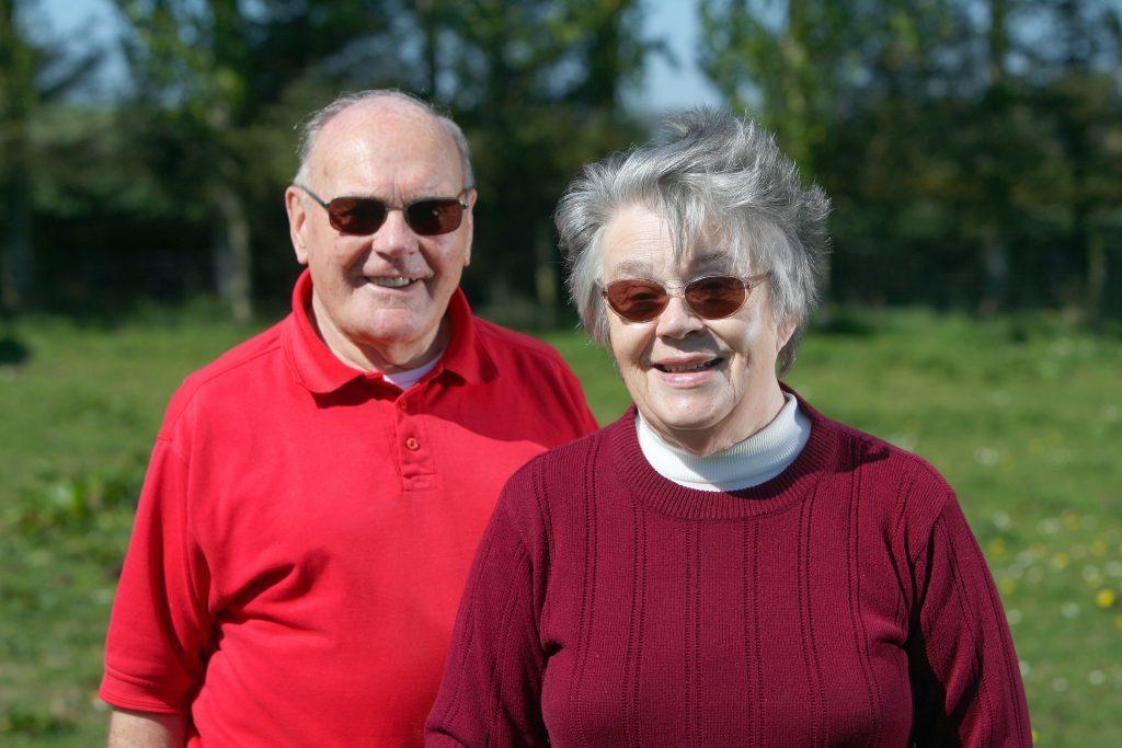 Ken and Anne Scott, of Braes of Kerryston, Kellas