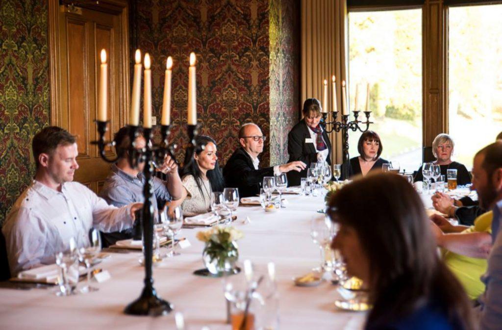 Kinnettles Castle is a fantastic dining venue.