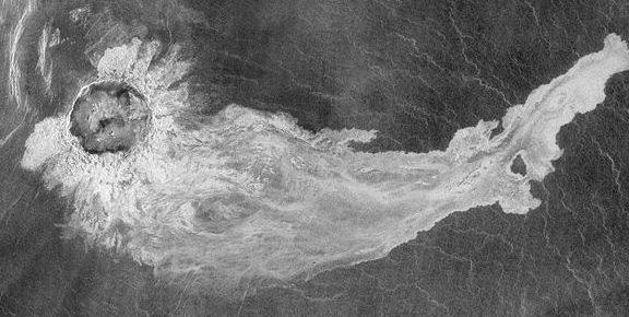 Lava flow on Venus