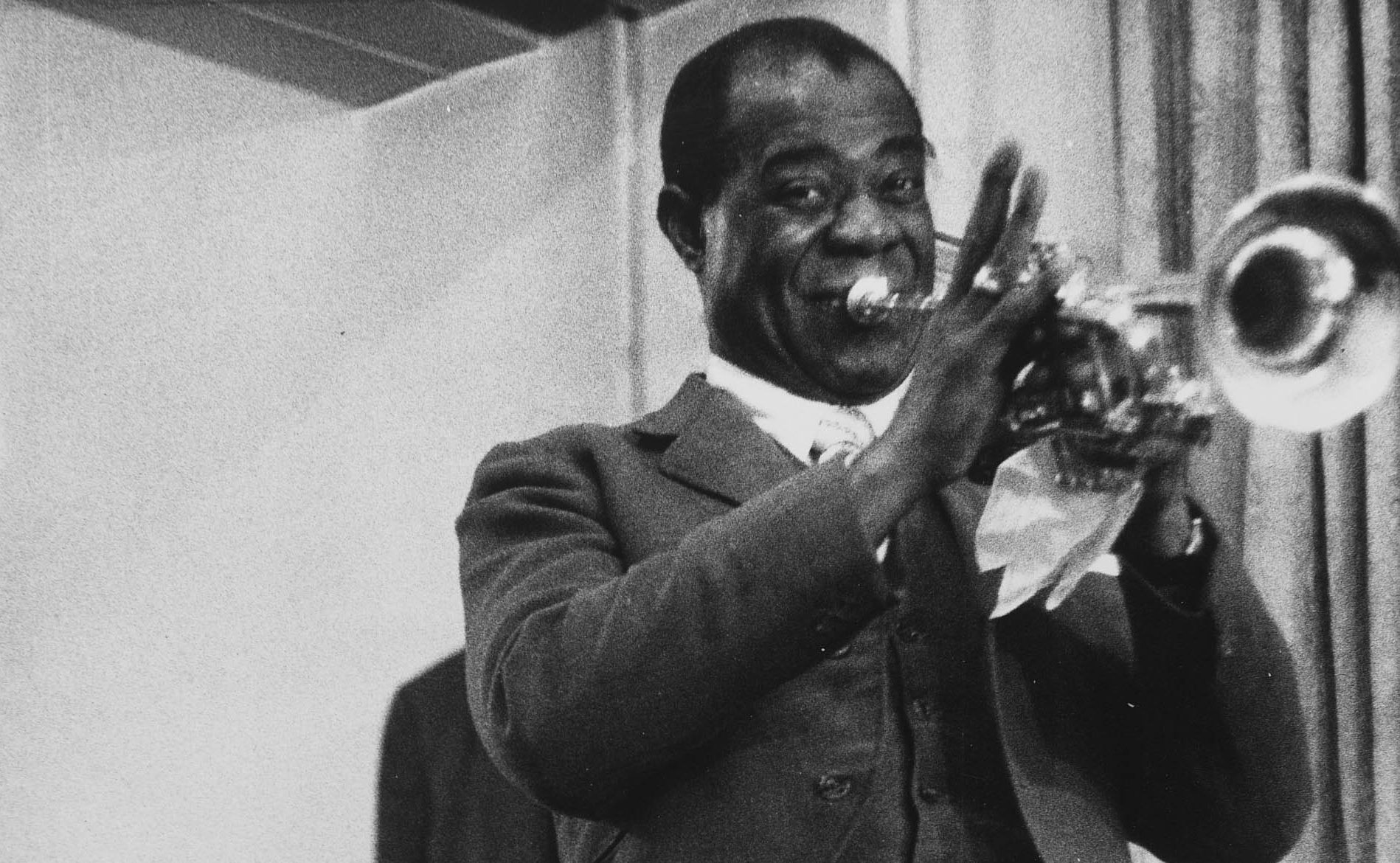A photo of Louis Armstrong by Michael Peto.