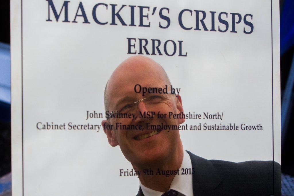 John Swinney MSP opens new crisp factory Mackie's at Taypack (Mackie's of Scotland),
