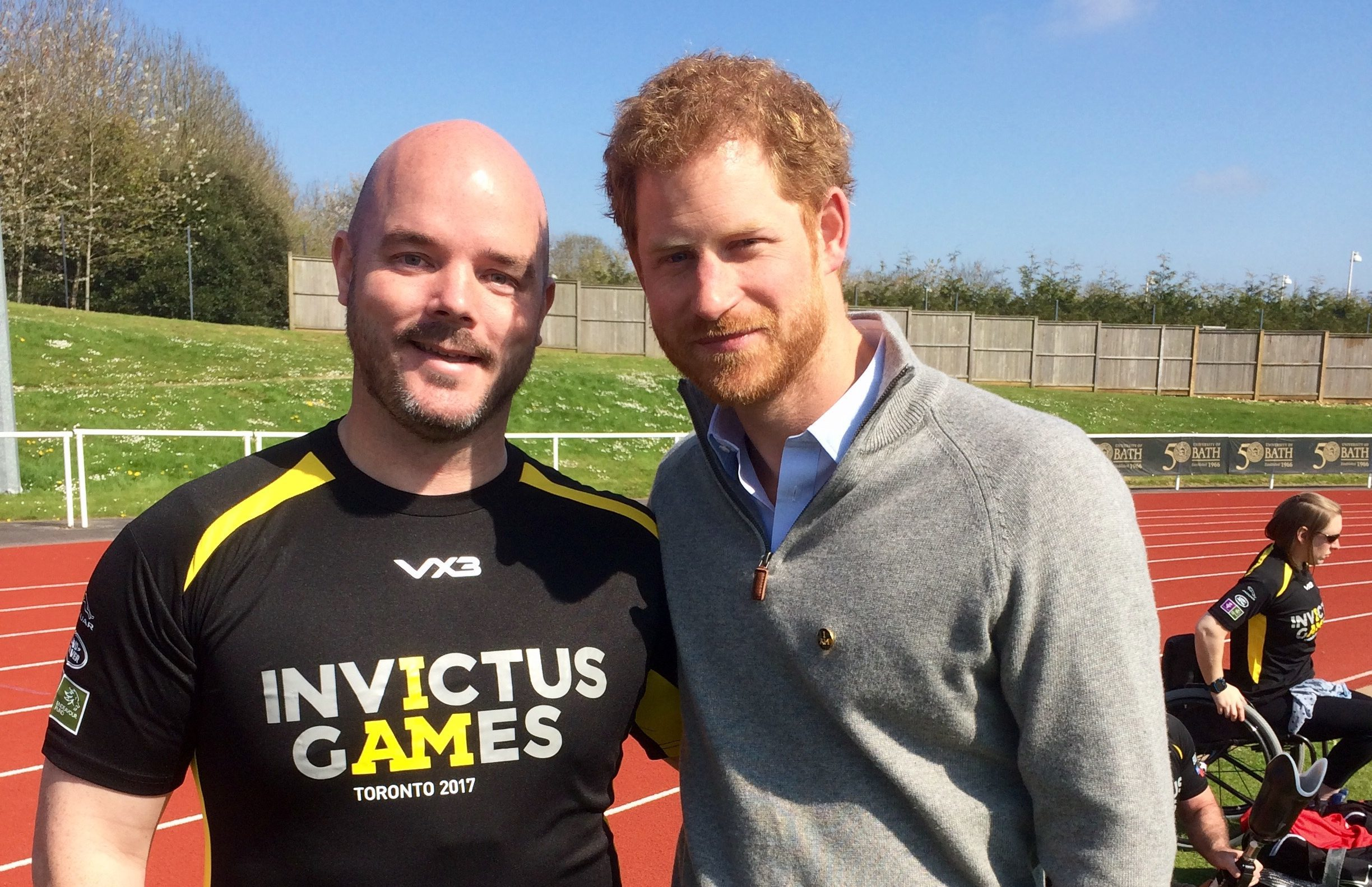 Michael with Prince Harry