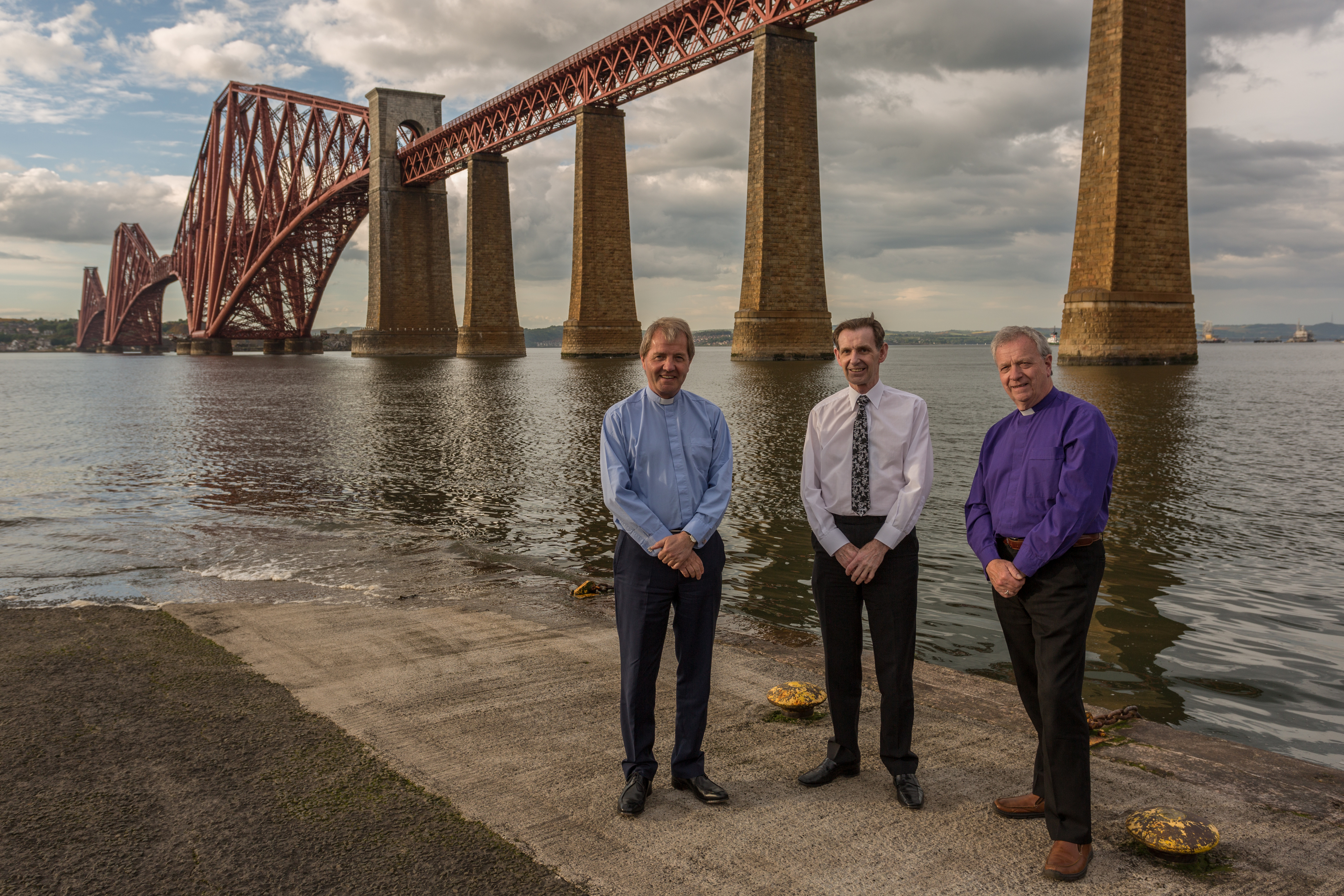 Dr Barr, Mr Bailey and Dr Chalmers will take a leap of faith as they abseil down the Forth Bridge