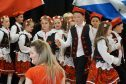 Children taking part in Polish Heritage Day at St Joseph's primary school on Saturday.