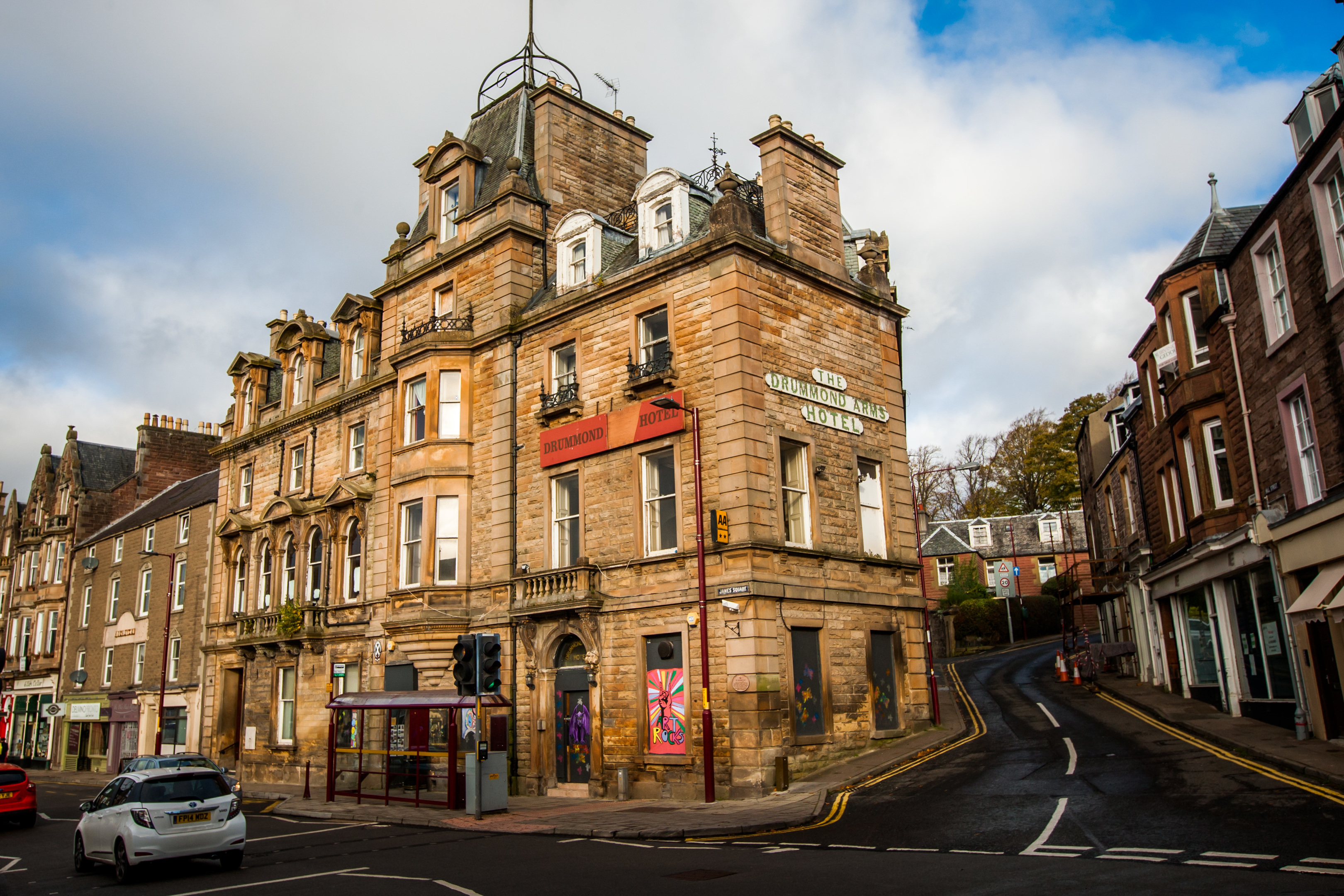 The Drummond Arms Hotel has been deteriorating for years.