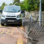 Car crashes into railings outside Falkland Primary School