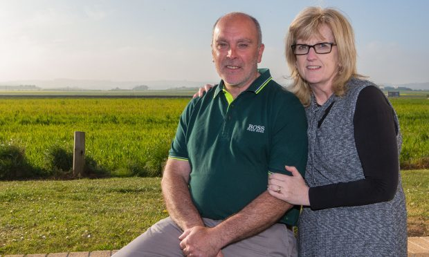 Juels Kilbane and wife Caroline at home in St Monans.