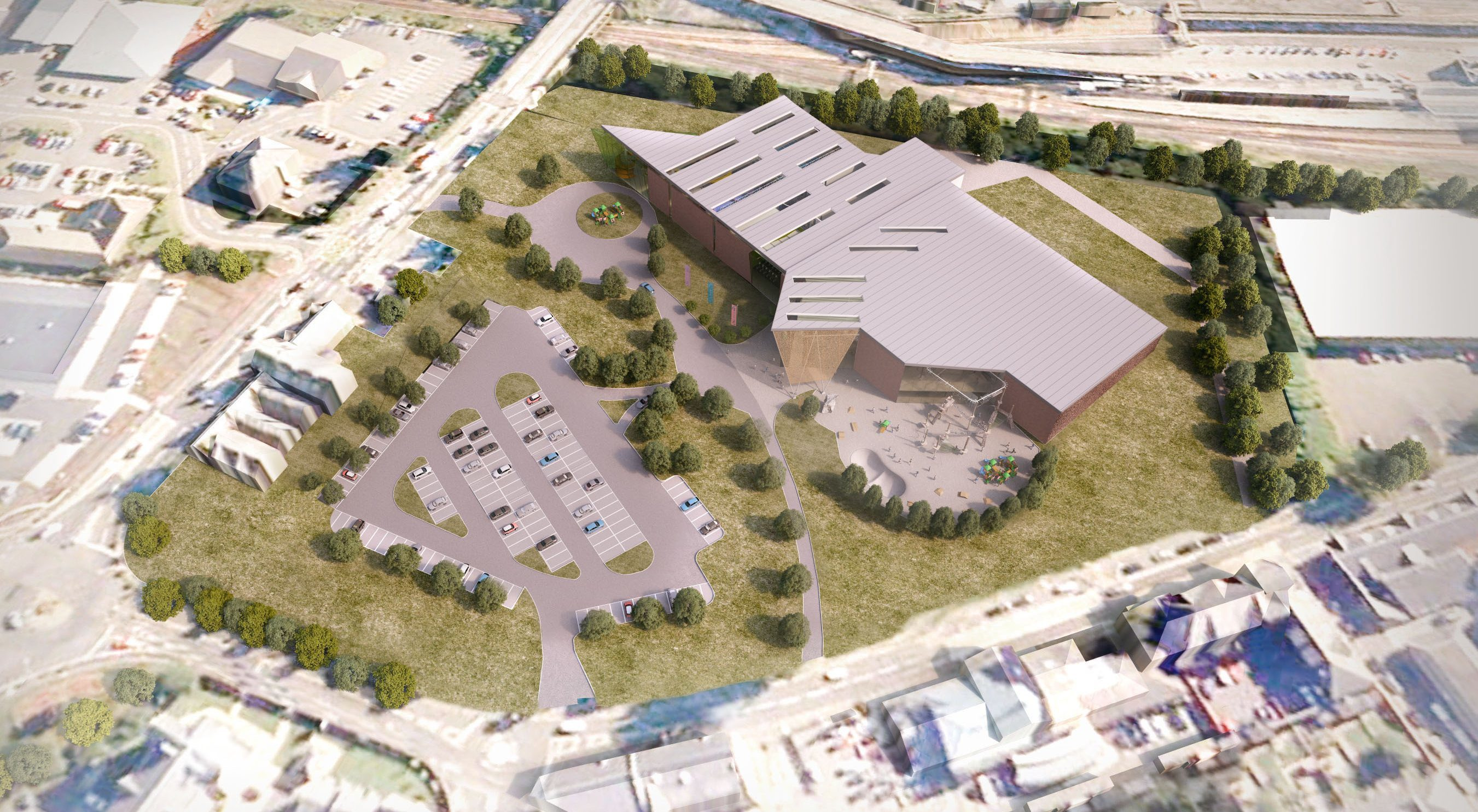 Graphic of planned PH2O sports centre.