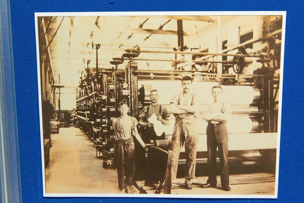 Picture shows: exhibition of memorabelia and photographs from old depicting the history of Tullis Russell Papermill.