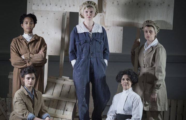 The cast from The 306 Day: a new show by the National Theatre of Scotland about women in World War 1 which is touring Scotland from May to June 2017.