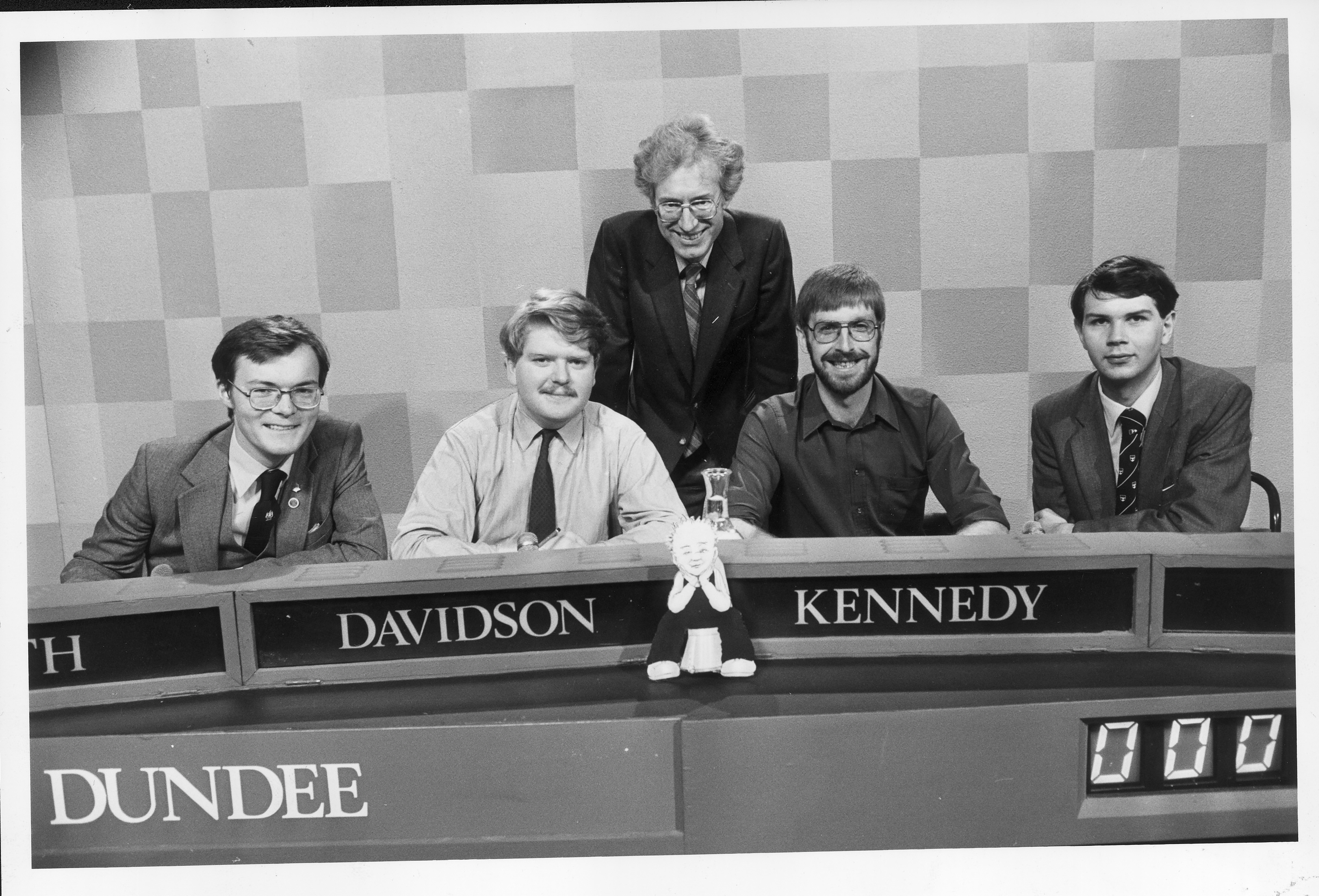 The winning Dundee University Challenge team from 1984