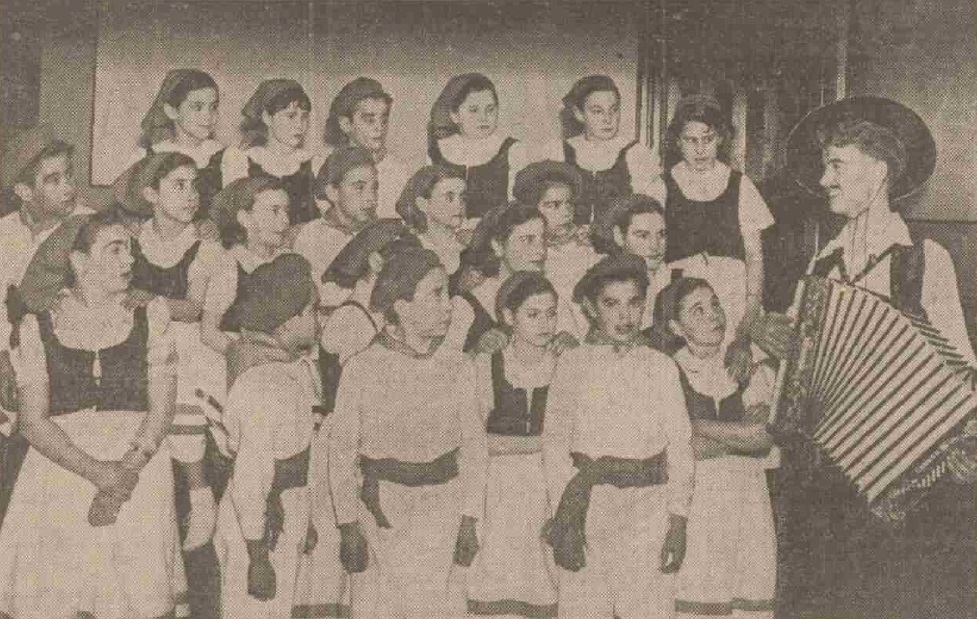 The Basque children who stayed in Montrose to escape the Spanish Civil War perform a concert.