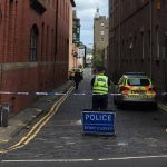 Police cordon off street in Dundee city centre