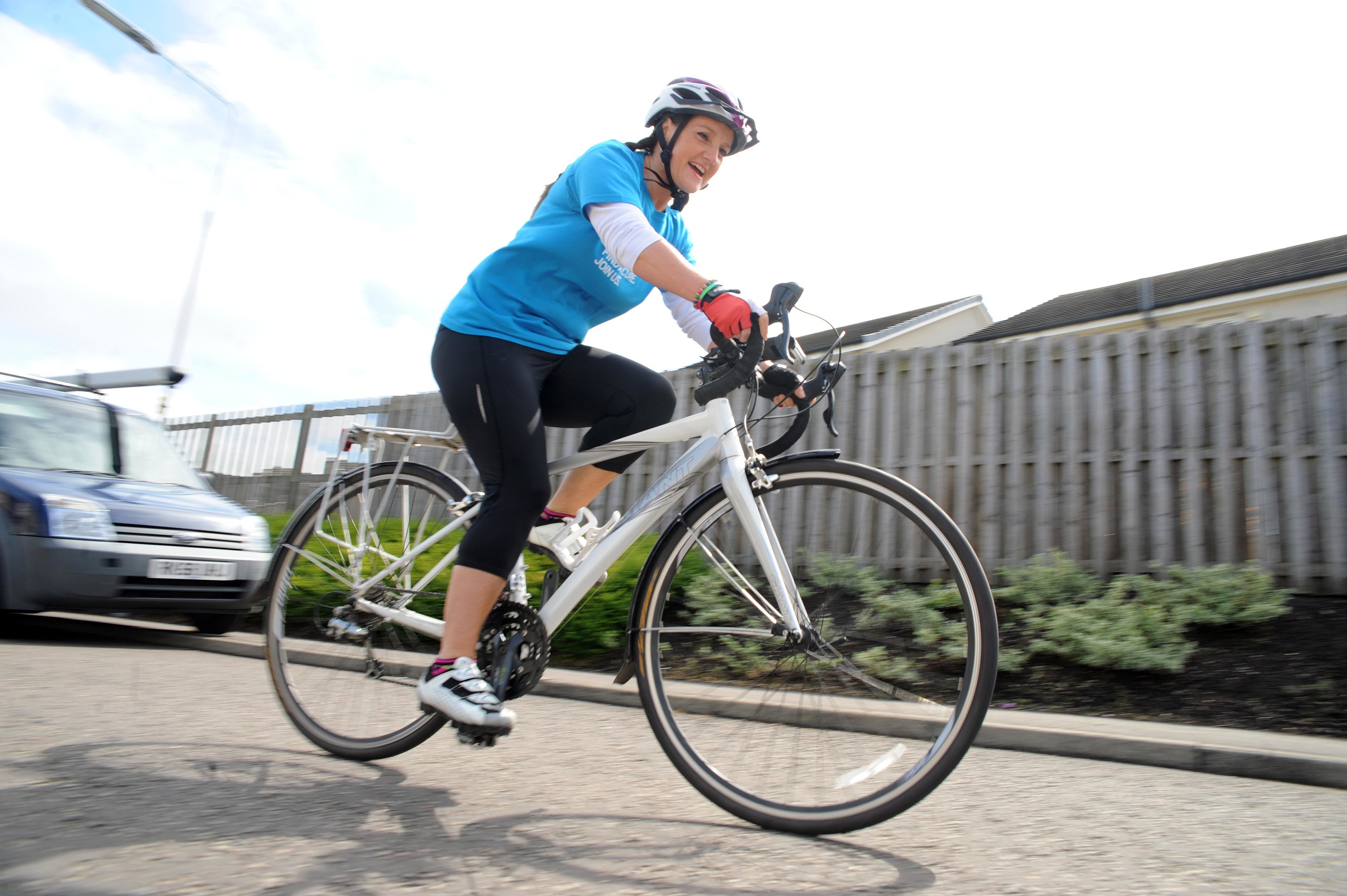 Janet Kerr will be cycling 100 miles from her home to Kingussie on May 28.