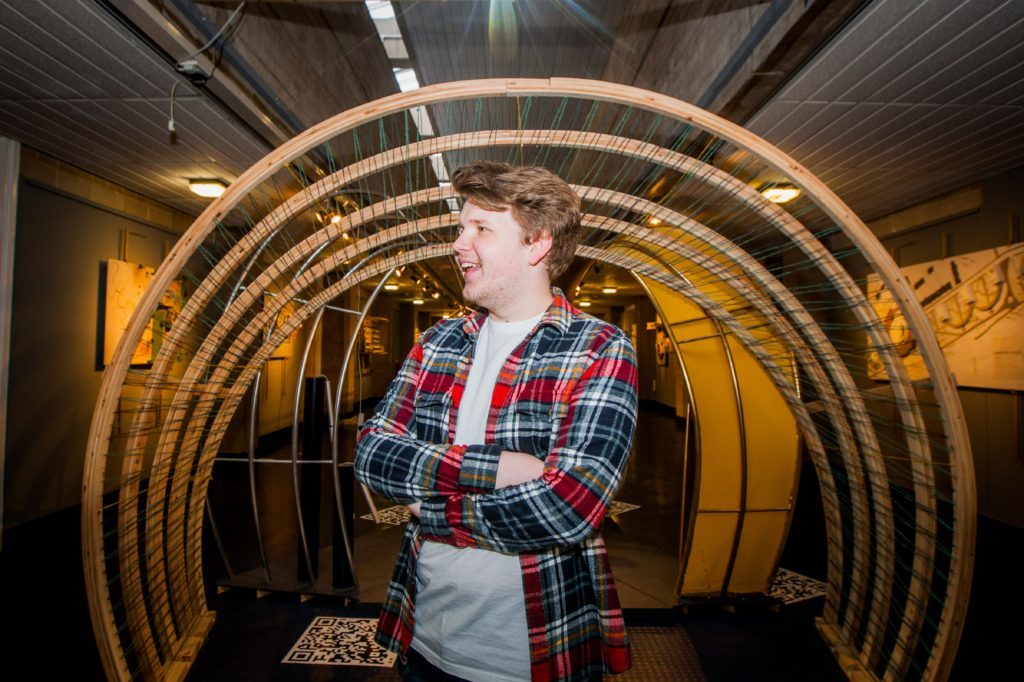 Interior environmental design student Keiran Connelly, 22 with music inspired Symphonic.