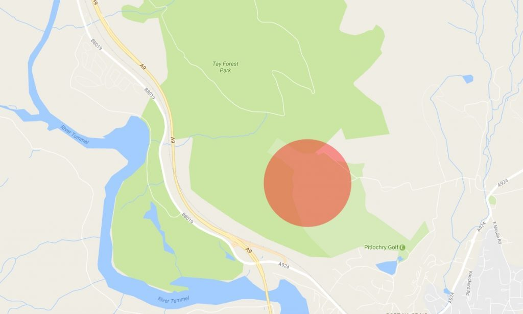 The fire was centred on the area highlighted in red.